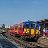 SWR Class 455 no 5910 @ Clapham Junction