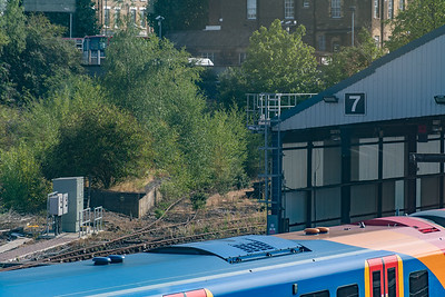 Disused sidings / platforms at Clapham Junction depot