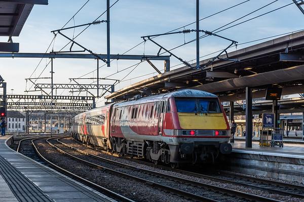 LNER 91106 departs Leeds