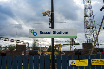 Station name sign, Bescot Stadium