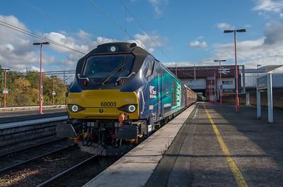 68003 'Astute' with Northern Belle ECS at Birmingham International