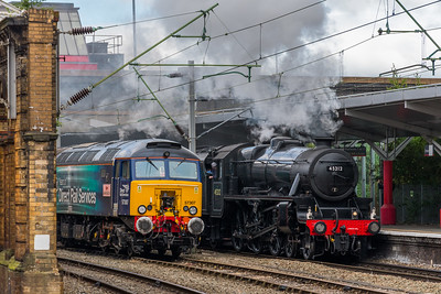 45212 + 60103 'Flying Scotsman', Crewe