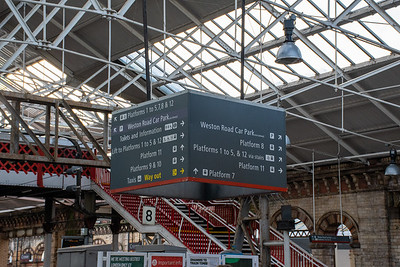 Virgin Trains - Directional Signage at Crewe