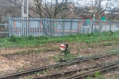 A disused shunt signal near Duddeston, Birmingham