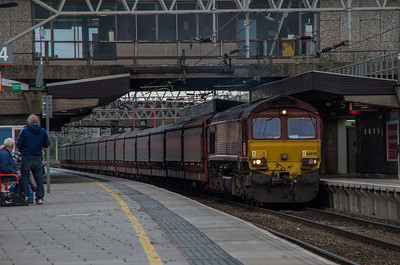 DB Cargo 66078 passes Stafford