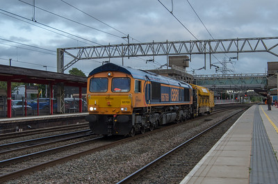 GBRf class 66 and railvac at Staffford