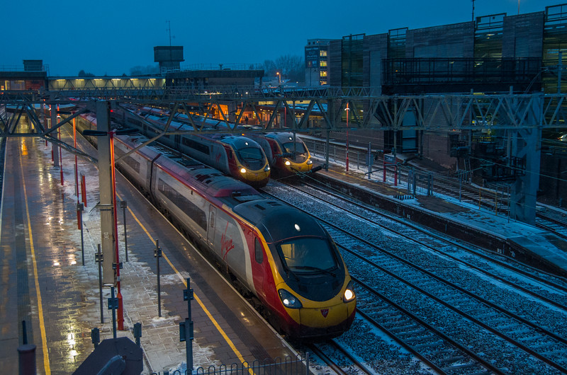 Pendolino line up, Stafford