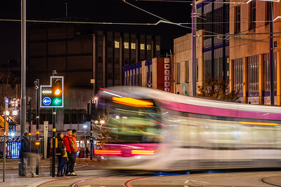 WMM Tram 23 turns onto Corporation Street