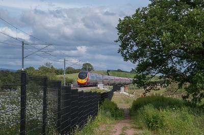 Class 390 at Norton Bridge