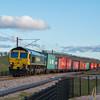 Freightliner class 66 passes Norton Bridge