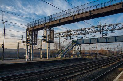 Renewed signal gantry at Rugeley Trent Valley