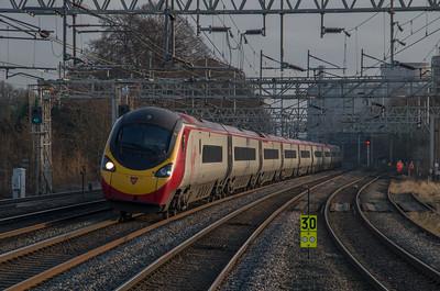 Virgin Trains Pendolino at Rugeley Trent Valley