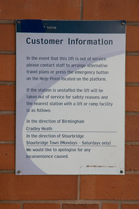 Central Trains sign at SBJ