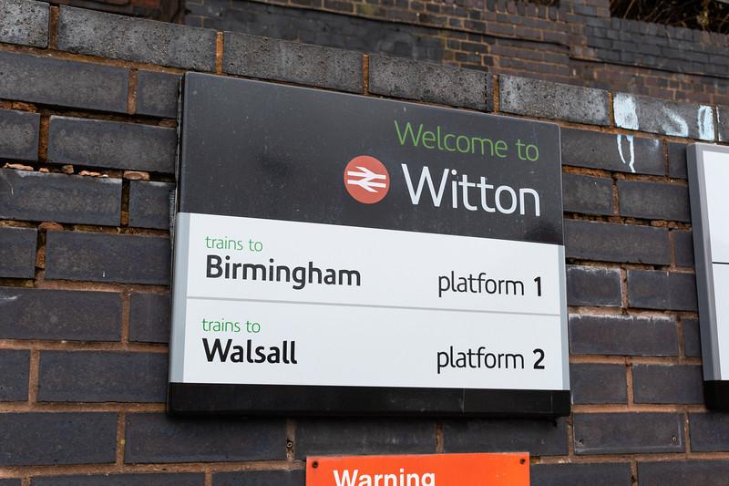 Witton station: London Midland signage