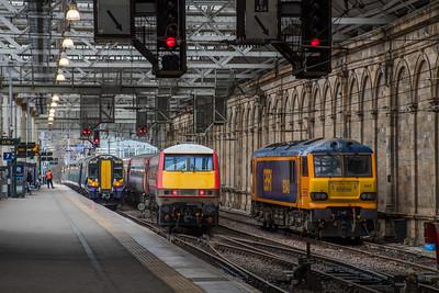 VTEC Class 92, Scotrail Class 380 & GBRf Class 92 at Edinburgh