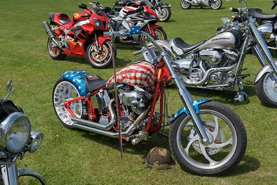 American Flag Harley