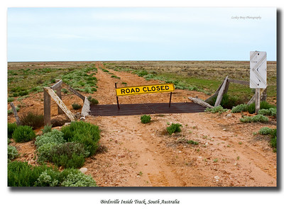 The Birdsville Inside Track was closed due to the 2010 rains.  This is the South Australian junction of the track which leads up through Sturt Stony Desert to Birdsville in Queensland.  It is not the main Birdsville Track.  It would have been wonderful to have access to this road.    Photographed September 2010 - © 2010 Lesley Bray Photography - All Rights Reserved.  Do not remove my signature from this image. Sharing only with credit please.