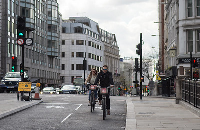 Farringdon Street cycle superhighway