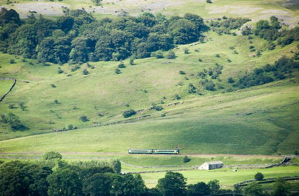 Passenger train in Ribblesdale