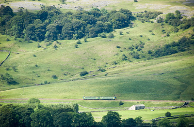 Passenger train in Ribblesdale