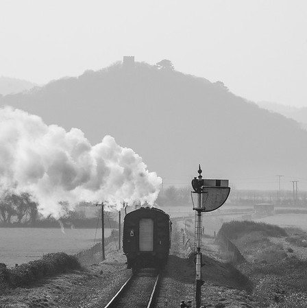 Steam train on the West Somerset Railway