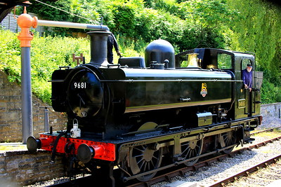 Topping up with water at Parkend Station 001