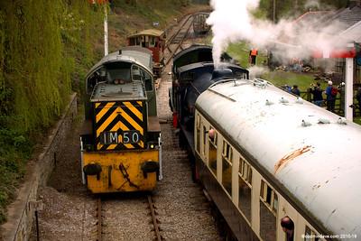 Trains at Parkend Station 001