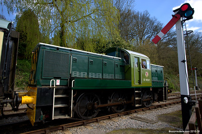 The D9521 at Parkend Station 002