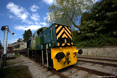 The D9521 at Parkend Station 003