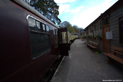 Trains at Parkend Station 004