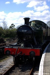 The 5541 at Lydney Station 002