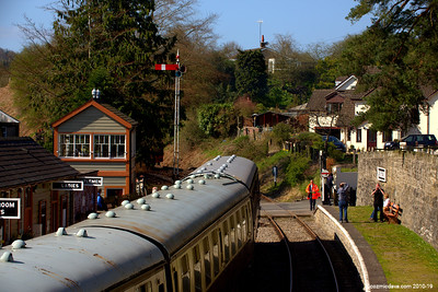 Trains at Parkend Station 006