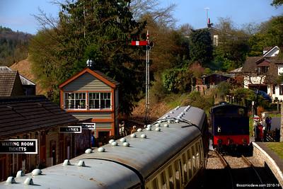 Trains at Parkend Station