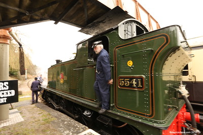 The '5541' at Parkend Station (March 2015)