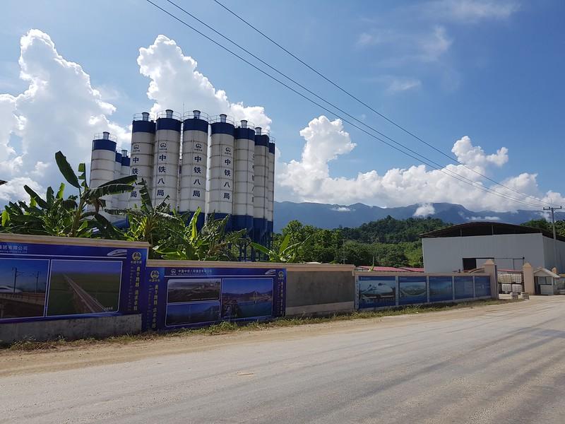 Luang Prabang station construction site