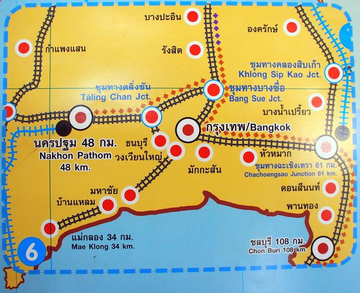 Greater Bangkok Railway Map