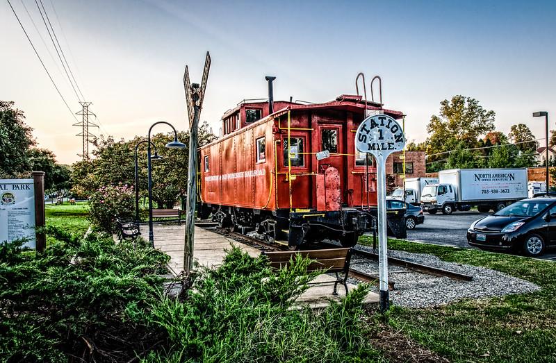 Washington & Old Dominion Caboose, Centennial Park, Church Street, Vienna, Virginia