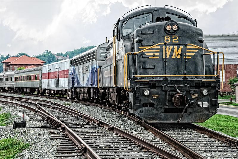 EMD BL2 Road Switcher locomotive, The New Tygart Flyer Excursion Train, Elkins, West Virginia