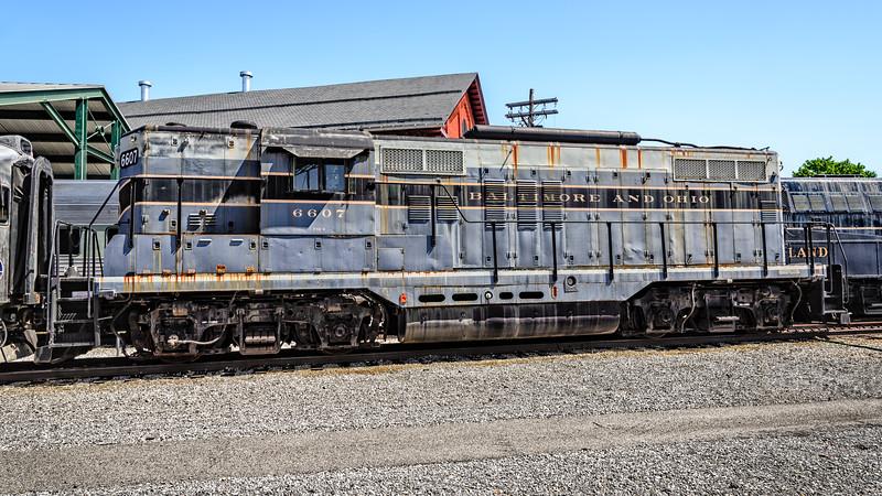 B&O EMD GP-9 No 6607, Baltimore & Ohio Railroad Museum, 901 West Pratt Street, Baltimore, MD