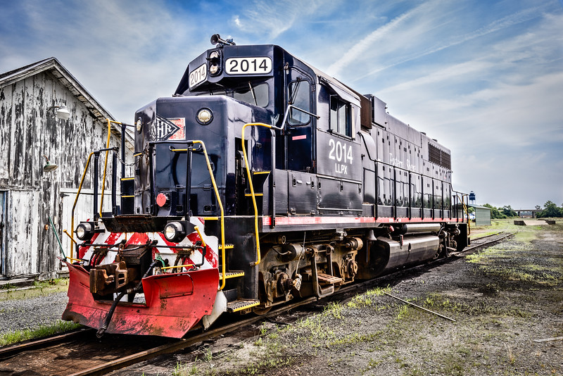 EMD GP38 No 2014 Diesel Locomotive, Eastern Shore Railroad, Cape Charles, Virginia
