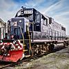 EMD GP38 No 2014 Diesel Locomotive, Eastern Shore Railroad, Cape Charles, Virginia