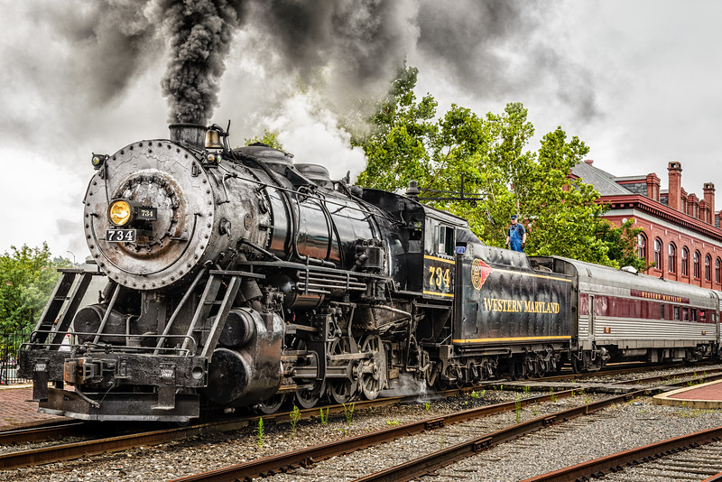 Western Maryland Scenic Railroad Baldwin 2-8-0 No 734, Cumberland, Maryland