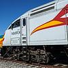Santa Fe Southern's ex-ATSF GP7 and Rail Runner MP36PH-3C, Santa Fe Train Depot, The Railyard, Santa Fe, New Mexico