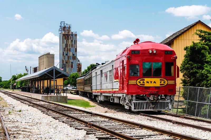 Atchison Topeka & Santa Fe M160 Doodlebug, Grapevine Vintage Railroad, Grapevine, Texas