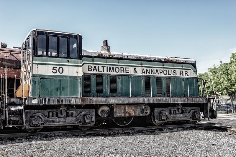 Baltimre & Annapolis GE 70-tonner No 50, Baltimore & Ohio Railroad Museum, 901 West Pratt Street, Baltimore, MD