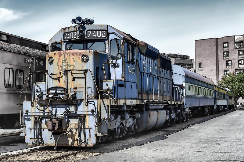 B&O SD-35 No 7402, Baltimore & Ohio Railroad Museum, 901 West Pratt Street, Baltimore