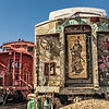 Graffiti on Rail Cars, Santa Fe Train Depot, The Railyard, Santa Fe, New Mexico