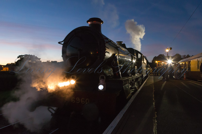 GWR Hall Class 6960 Raveningham Hall brings the last train into Bishops Lydeard station on the West Somerset Railway