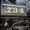 Steam Engine Driver, Western Maryland Scenic Railroad, Cumberland, Maryland