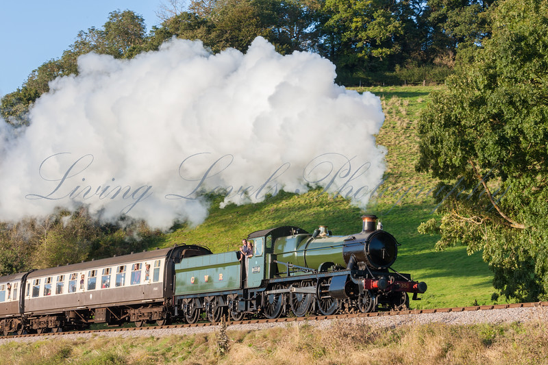 GWR 9351 - Mogul, ascending Williton Bank (Castle Hill) during the 2012, West Somerset Railway Autumn steam gala